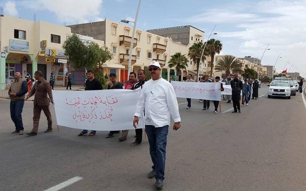 هكذا خلد الاتحاد العام للشغالين بالمغرب فرع بوجدور ذكرى فاتح ماي 2016