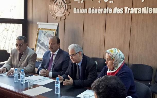 صور زيارة الأخ الأمين العام لحزب الاستقلال للاتحاد العام للشغالين بالمغرب