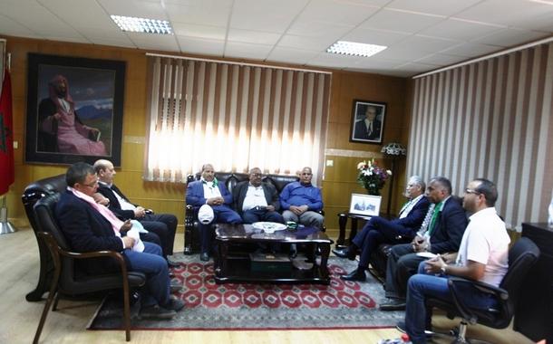 الأخ الأمين العام لحرب الاستقلال يستقبل وفدا من نادي هلال أريحا الفلسطيني