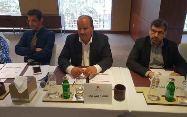 الأخ الكاتب العام النعم ميارة يشارك في اجتماع المكتب التنفيذي الاستثنائي للاتحاد العربي للنقابات بمسقط