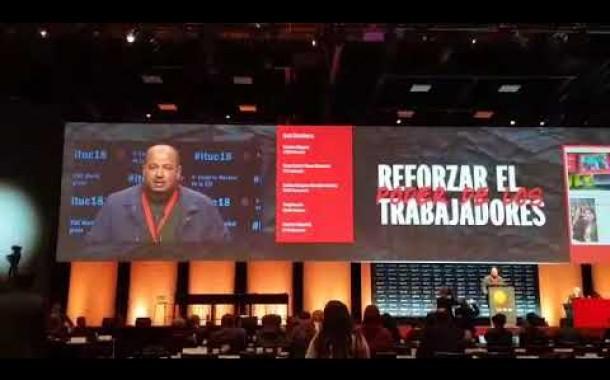 كلمة الكاتب العام في المؤتمر الرابع للاتحاد الدولي للنقابات