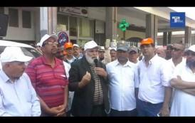 كلمة وحوار الكاتب الوطني أحمد صابر في وقفة الطاكسيات التي منعتها الداخلية