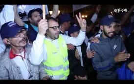 """احتجاج عمال """"سنطرال"""" أمام البرلمان"""