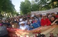 احتجاجا على استمرار الحكومة في انتهاك حقوق وكرامة العمال والموظفين والأجراء