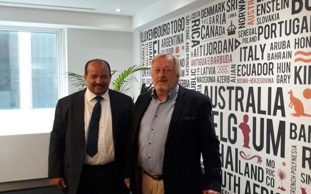 الكاتب العام يجتمع مع نائب الكاتبة العامة للاتحاد الدولي للنقابات ببروكسل