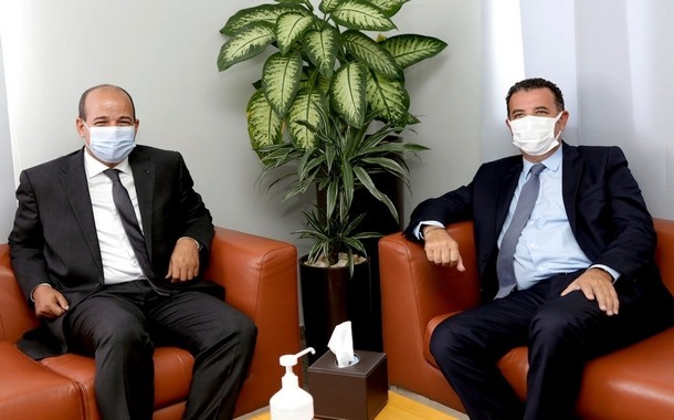 السيد شكيب العلج يلتقي بالكاتب العام للاتحاد العام للشغالين بالمغرب